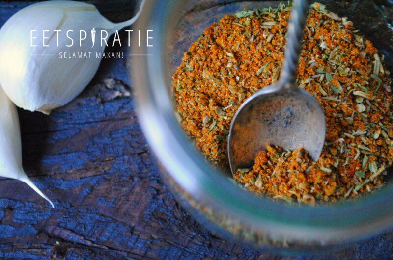 Homemade spicemix en dry rub