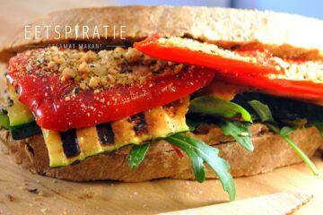 Sandwich met gegrilde groenten