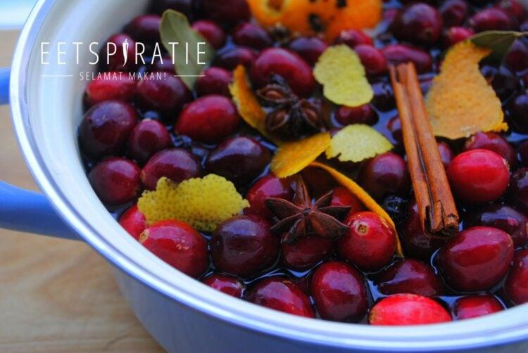 Recept voor kruidige cranberry drank
