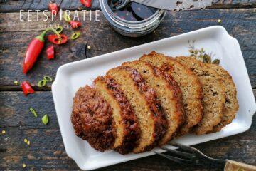 Indisch gehaktbrood met ketjapsaus