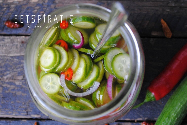 Zoet zure komkommersalade