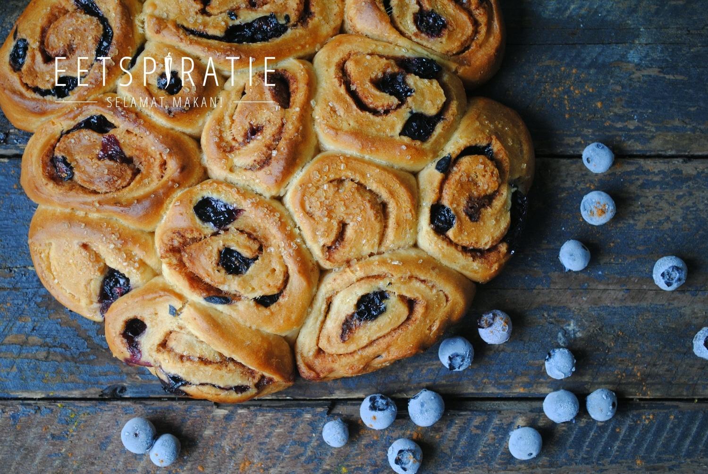 Blauwe bessen broodjes