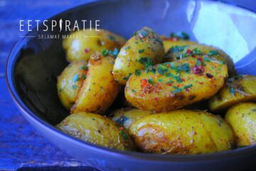 Curry aardappels uit de oven