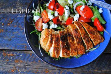 Snelle (lunch) salade met kip