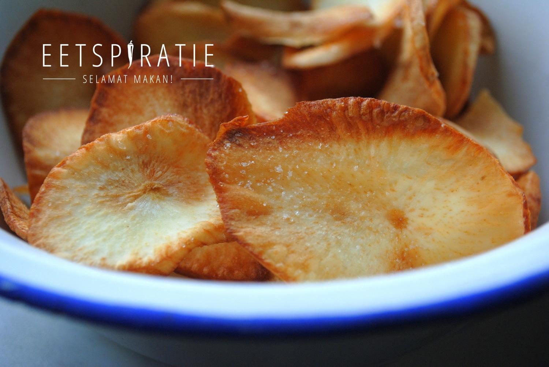 Cassave chips maken