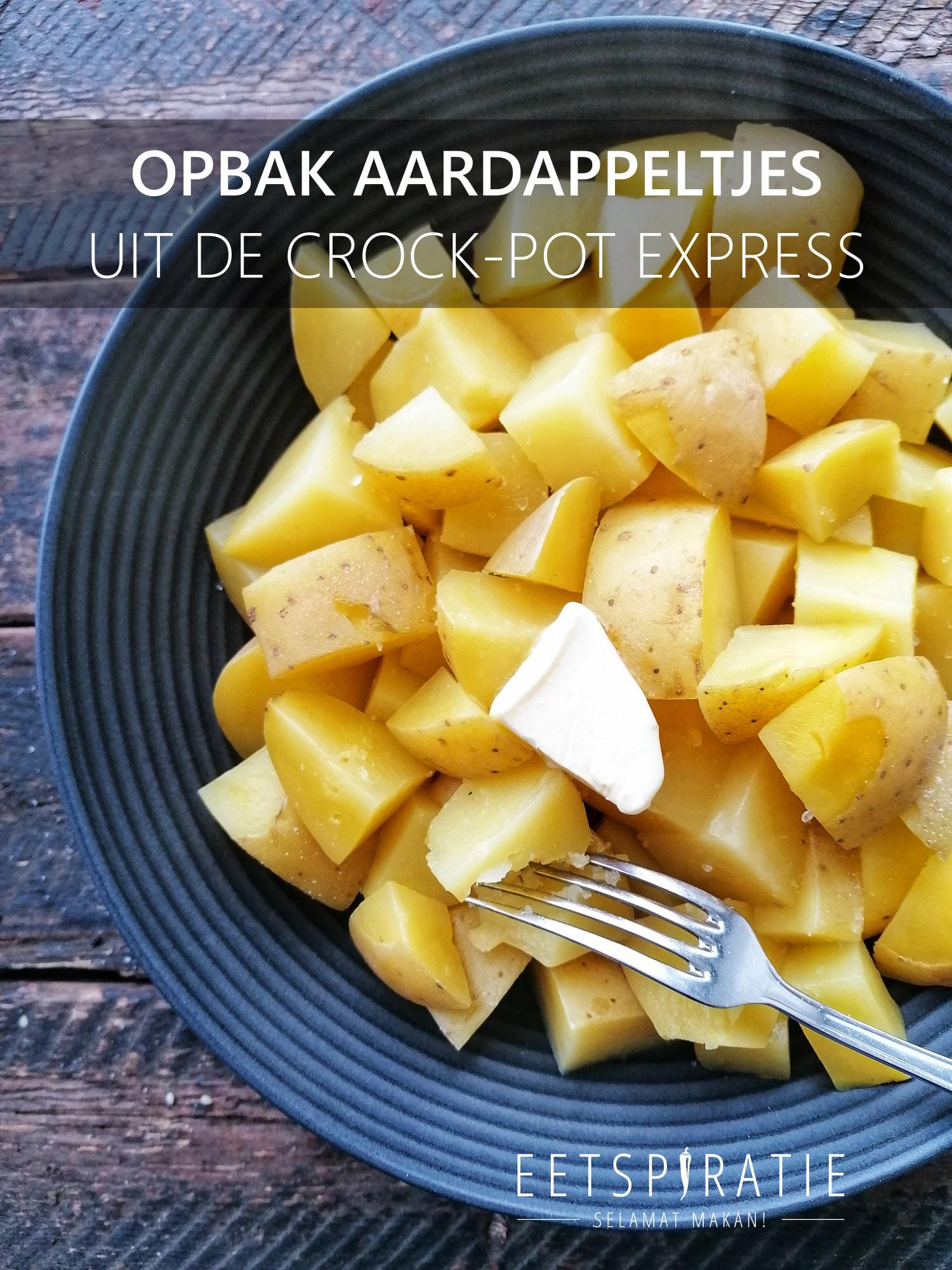 Opbak aardappeltjes uit de Crock-Pot Express