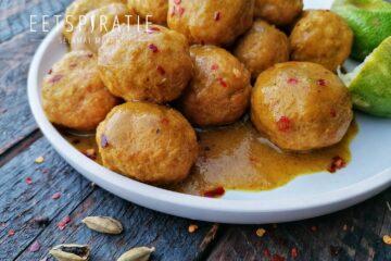 Kokos curry met kipgehaktballetjes Crock-Pot Express