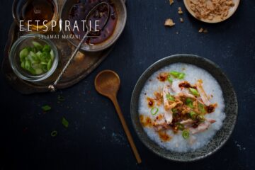 Bubur ajam (rijstepap met kip)