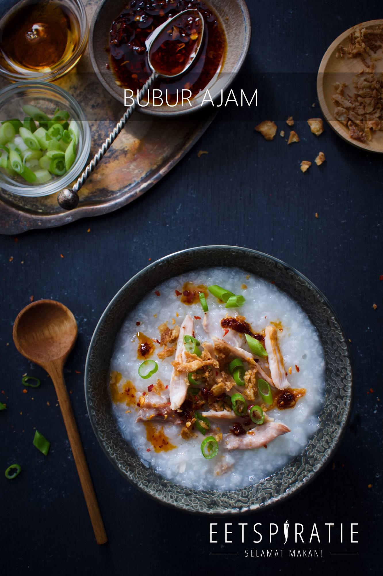 Bubur ayam (rijstepap met kip)