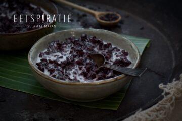 Bubur ketan hitam (zwarte zoete rijstepap)