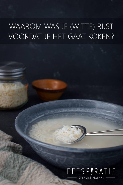 Rijst wassen voor het koken